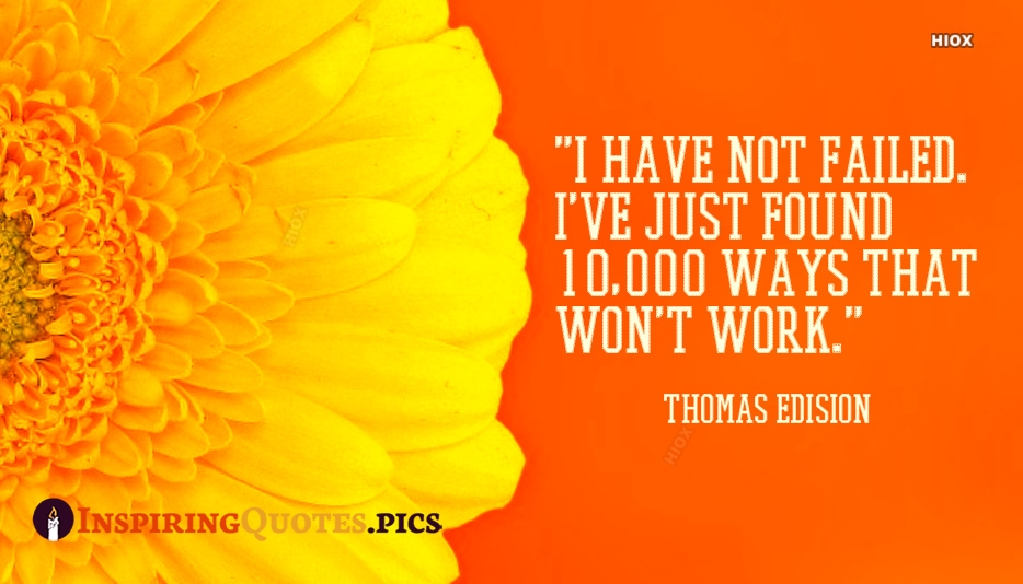 Inspirational Quotes By Thomas Edison