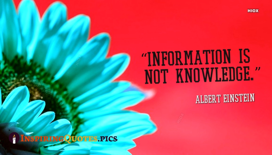 Inspirational Quotes About Knowledge