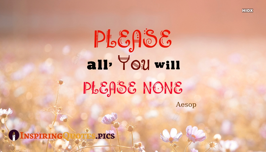 Please All, And You Will Please None - Aesop