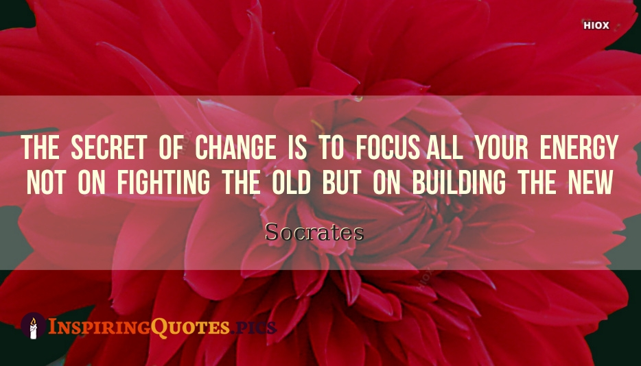 The Secret Of Change Is To Focus All Your Energy Not On Fighting The Old