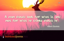 A Man Should Look For What Is, And Not For What He Thinks Should Be Quote Image