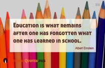 Albert Einstein Quote About Education and Mindset