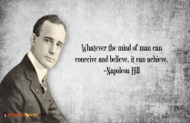 Mind can Achieve Inspiring Believe Quote