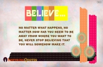 Never Stop Believing Quote Image