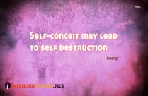 Self-conceit May Lead To Self Destruction By Aesop