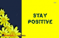 Stay Positive Wallpaper