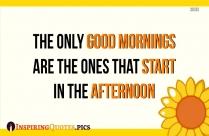 The Only Good Mornings Are The Ones That Start In The Afternoon