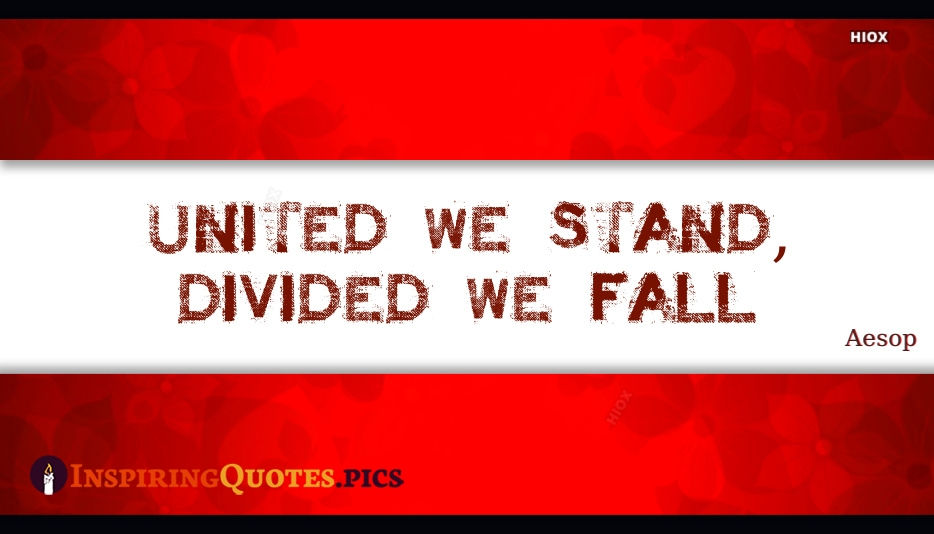 United We Stand, Divided We Fall - Aesop